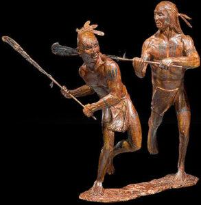 The Seneca-Mohawk Lacrosse Game of 1797 Sculpture