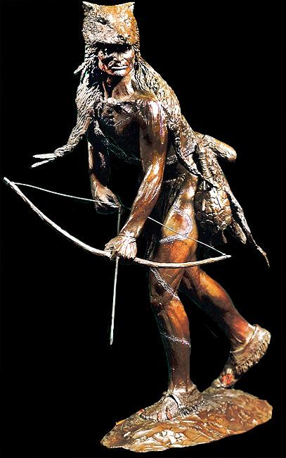He Hunts in the Sprit World sculpture.