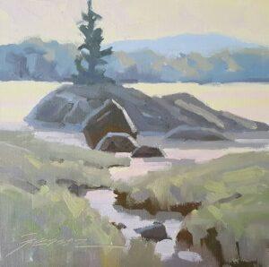 Pastel Morning Painting
