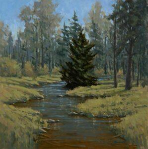 Spring On Meadow Brook Painting