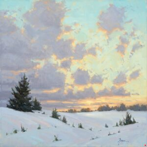 Winter Pastels Painting