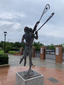 16' monumental bronze at the Lacrosse Foundation headquarters/Lacrosse Hall of Fame in Sparks, MD.