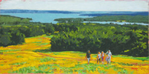 Blue Hill Hikers Painting
