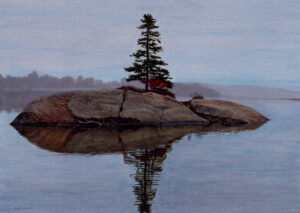 Out of the Fog, Painting