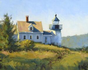 Pumpkin Island Lighthouse Painting