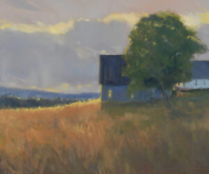 Sunset at the Old Farm Painting