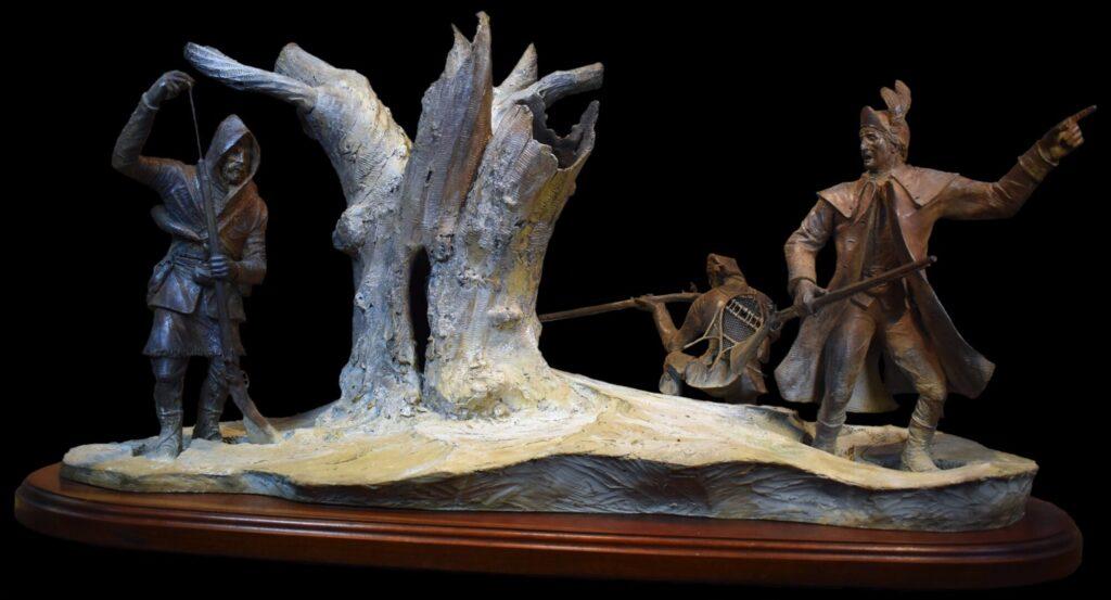 The Battle on Snowshoes Sculpture